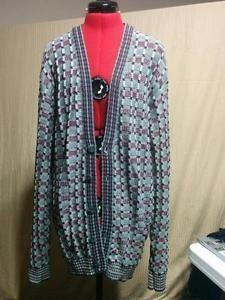 """Men's V Neck Textured Springtime Sweater Sundays Size Large XT Basket Weave """