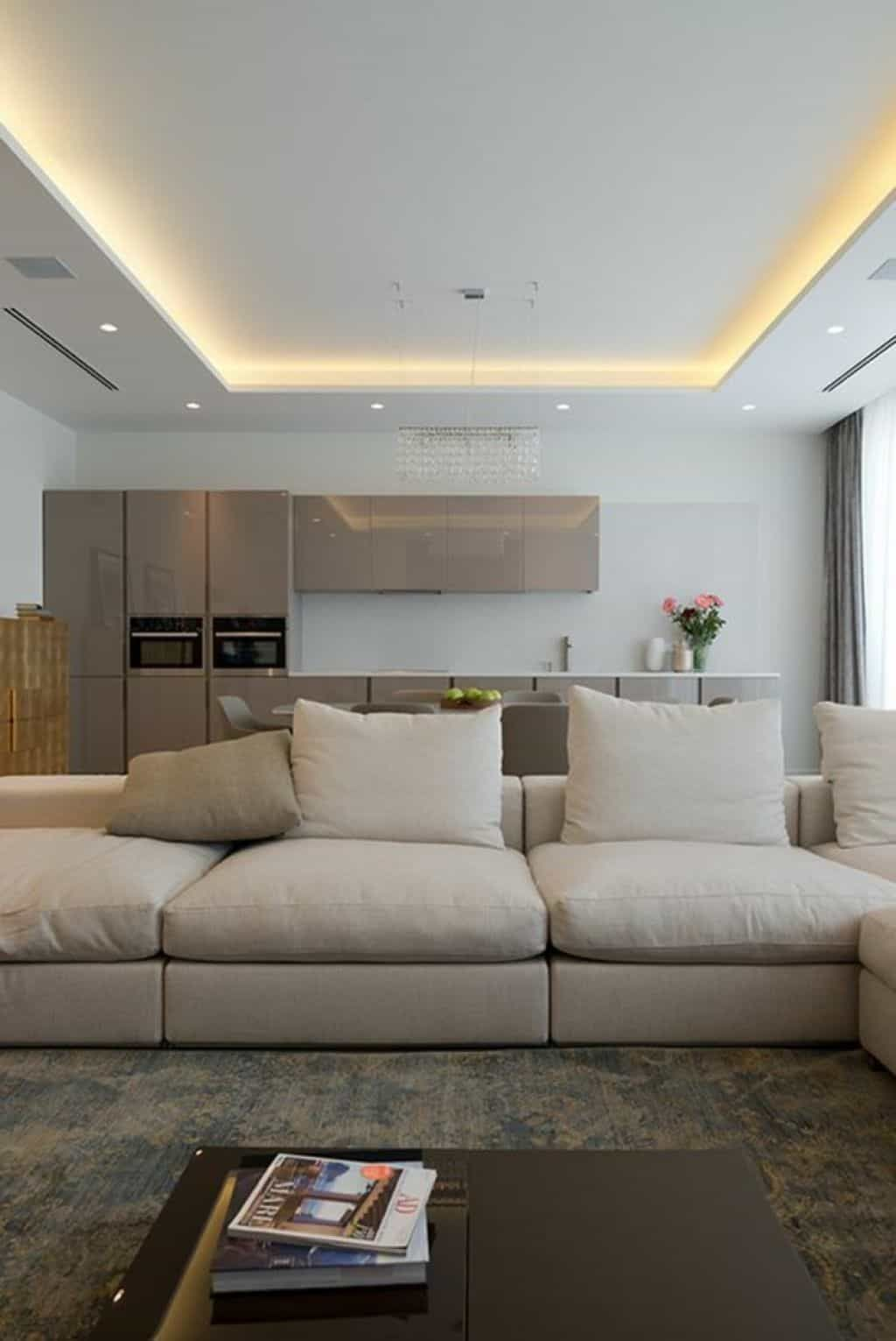 Installing Rope Lighting In Tray Ceiling House Ceiling Design Recessed Lighting Living Room Living Room Ceiling