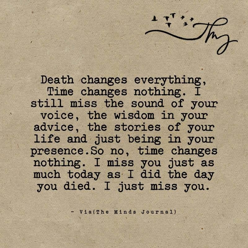 Death changes everything - The Minds Journal