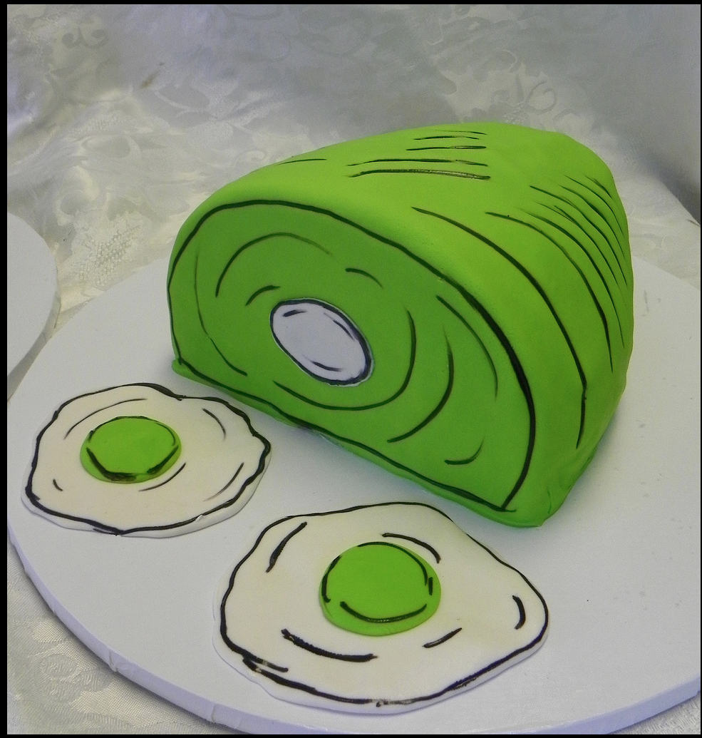 Green eggs and ham cake by Wild Orchid Baking Company ...