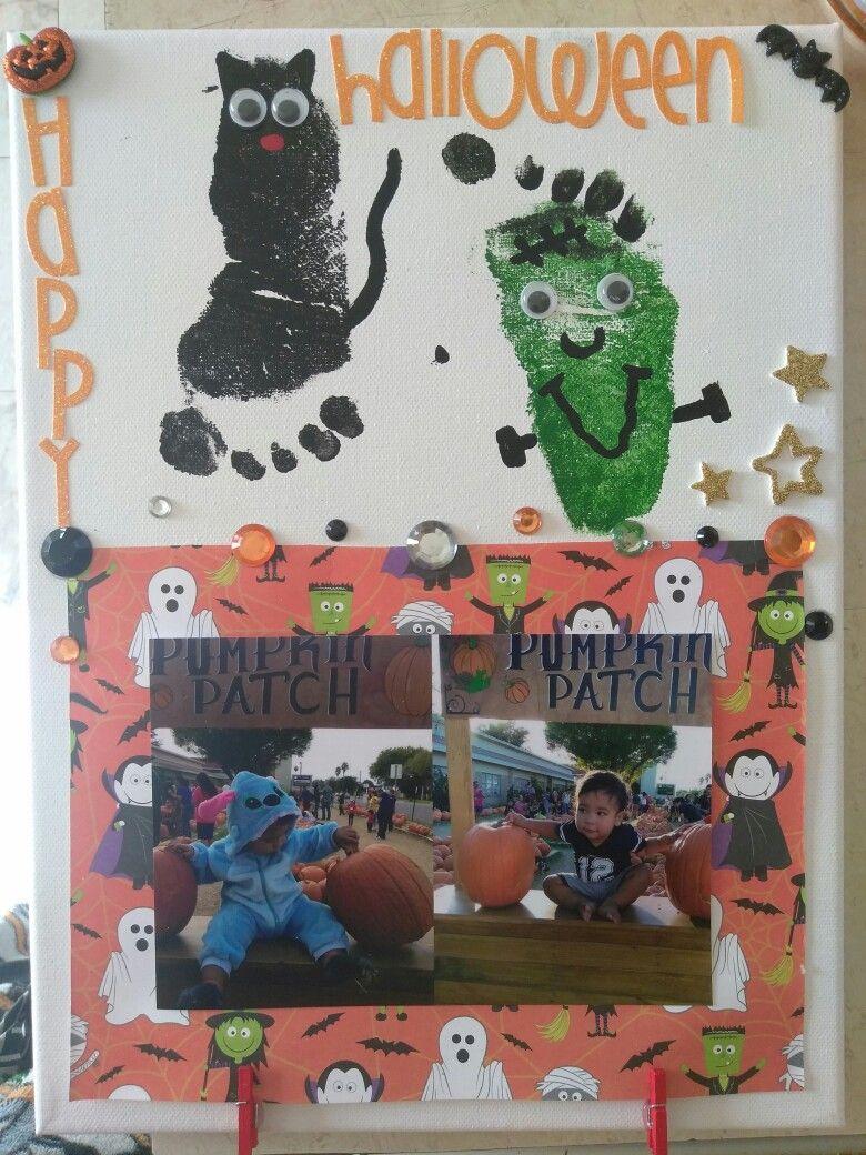 Halloween DIY Decor Toddler Footprints Card/Decor Ideas - halloween diy decor