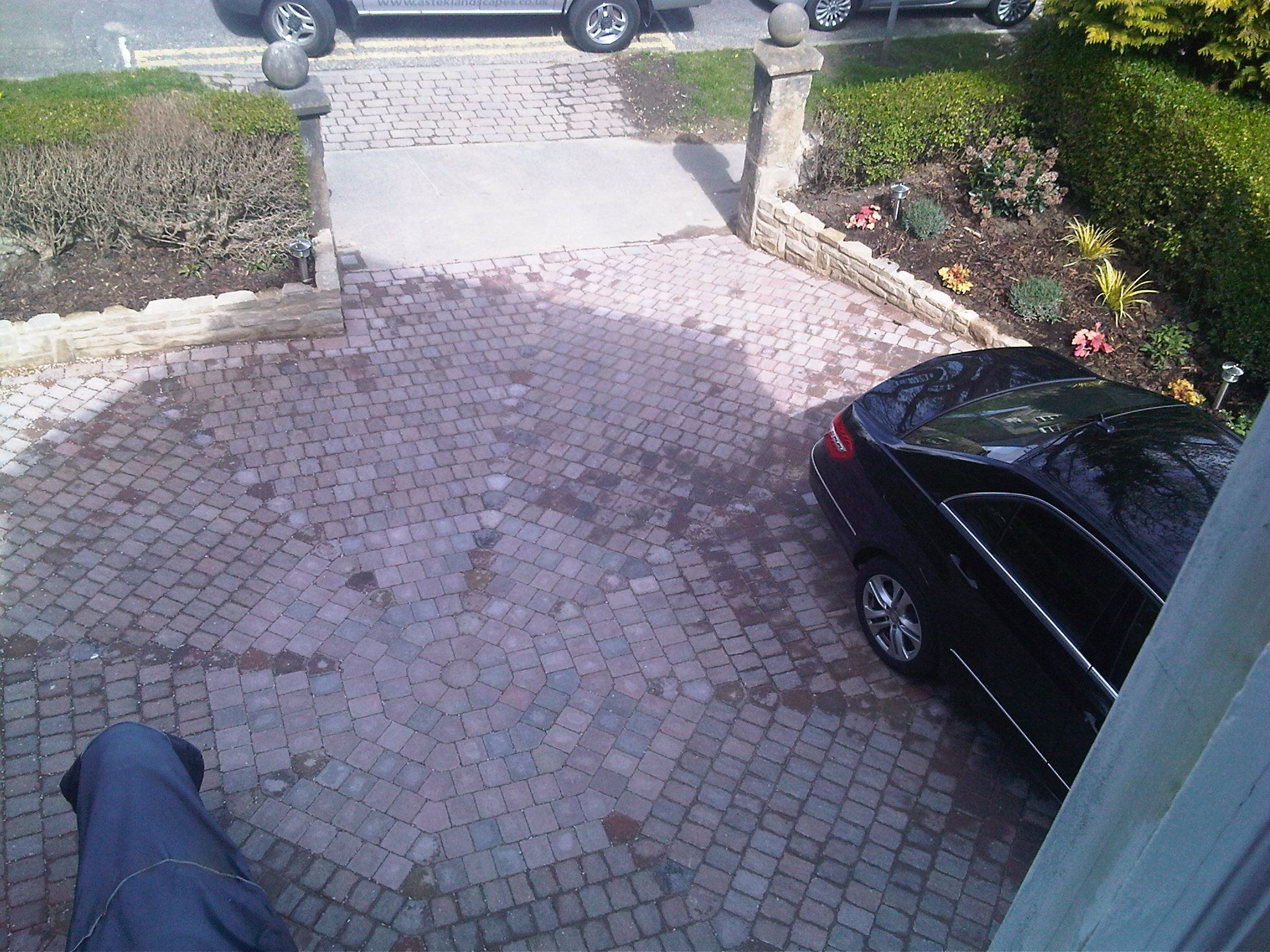 marshalls tegula octant setts provide a great parking space in