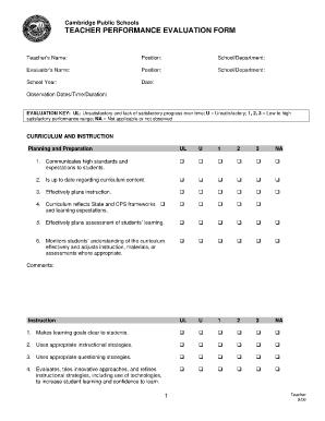 Hasil Gambar Untuk Teachers Appraisal Form  Teacher Appraisal