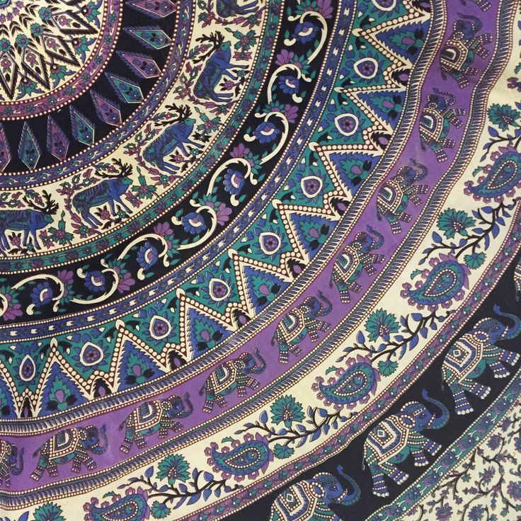 Elephant Medallion Mandala Wall Tapestry Bedspread Boho Wall Art Tapestry Wall Art Uk