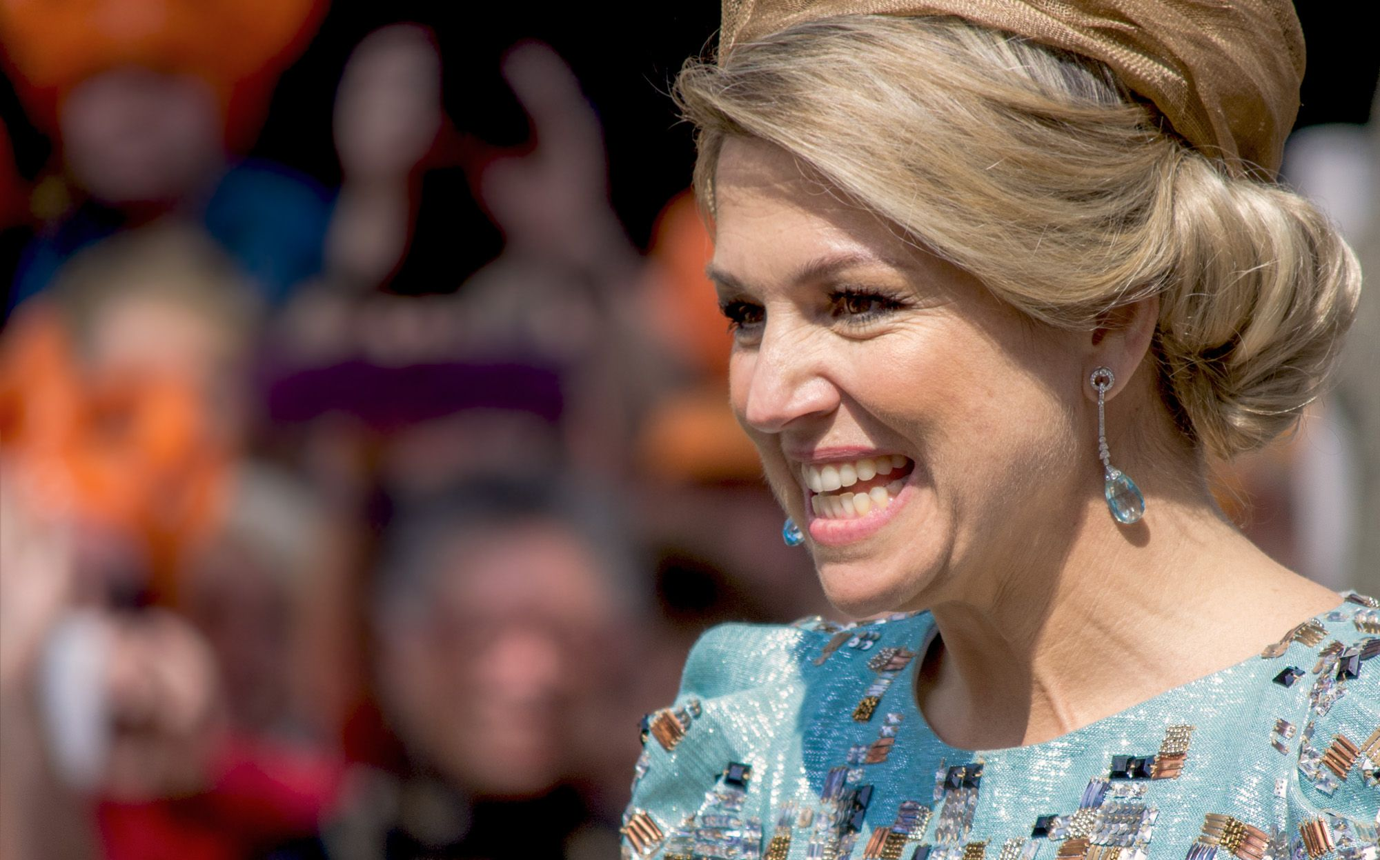 Queen Máxima at the first King's Day in Amstelveen, The Netherlands.