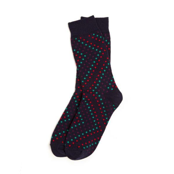 7ac98d816 Richer Poorer   Champ   Men s Socks   Navy Polka Dot