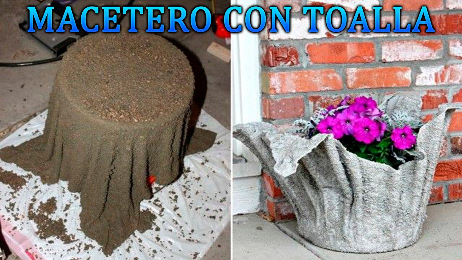 Diy como hacer maceteros con toallas viejas y cemento for Macetas de cemento