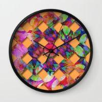 Tropical Weave Wall Clock