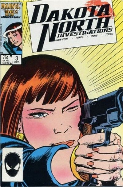 Dakota North (1986) 3 Marvel Comics Modern age Bronze Age Comic book covers Super Heroes Villians