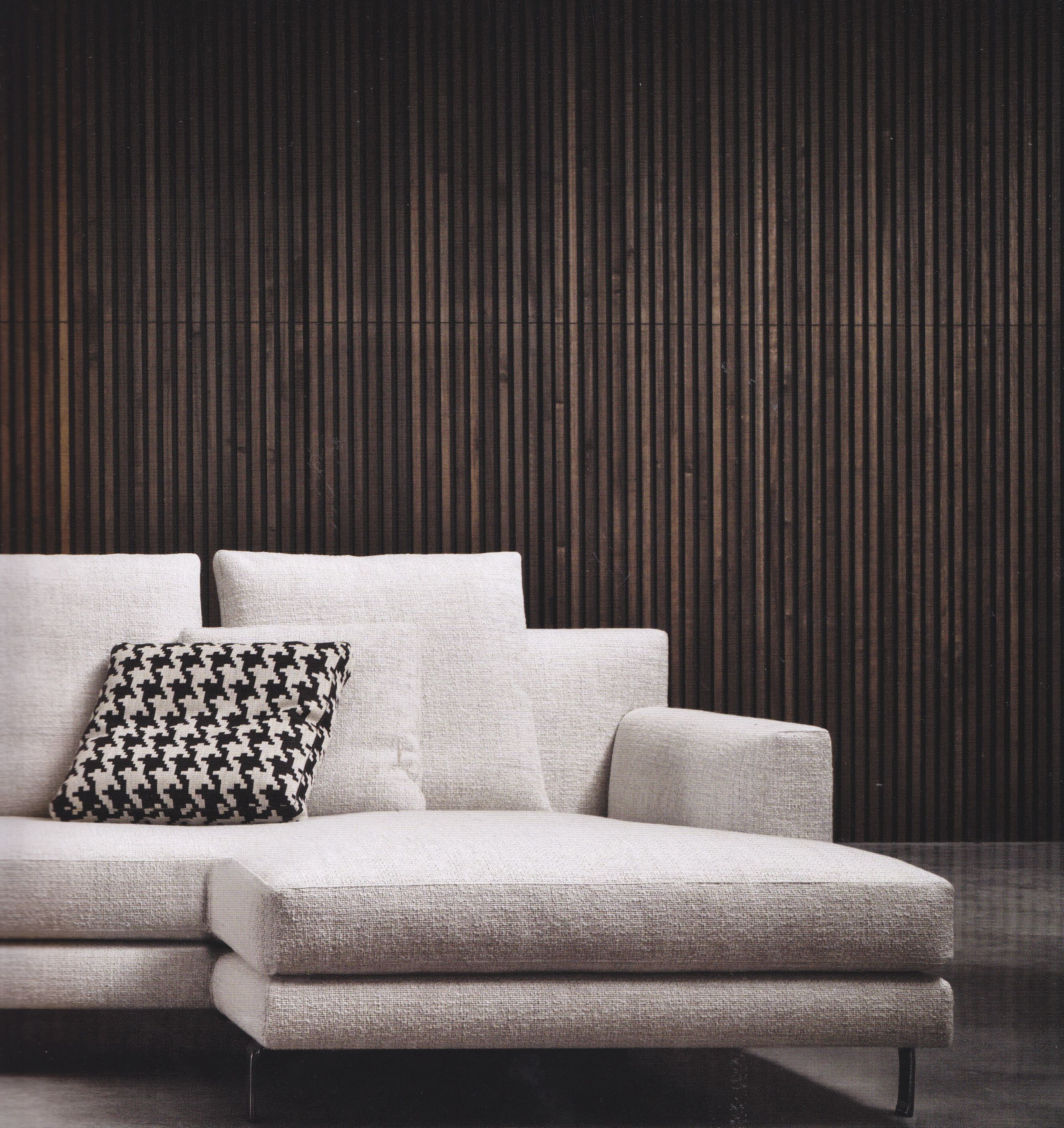 Black Feature Wall Living Room minotti wall in living room and outside feature wall wood color