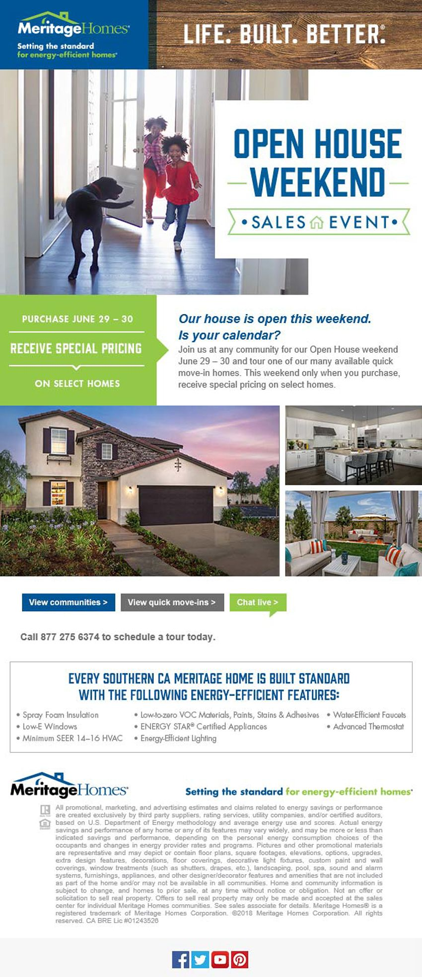 New Homes For Sale In Southern California Open House Sales Event