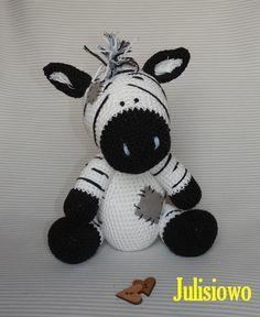 Crochet Zebra like a Chip the Zebra Blue Nose Friends ...