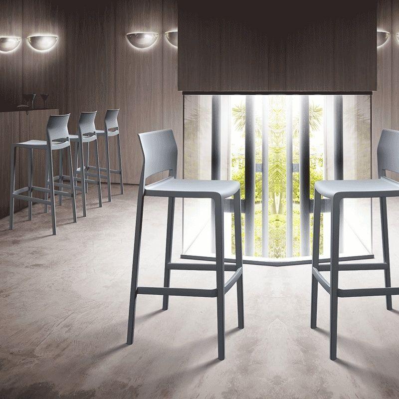 Tabouret Snack Moderne Empilable Bakhita Tabourets Modernes Chaise Haute Design Mobilier Restaurant