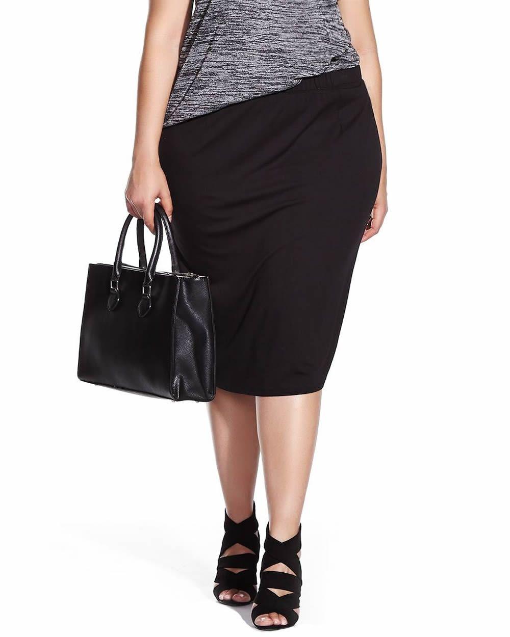 Reitman's Plus Size Midi Skirt