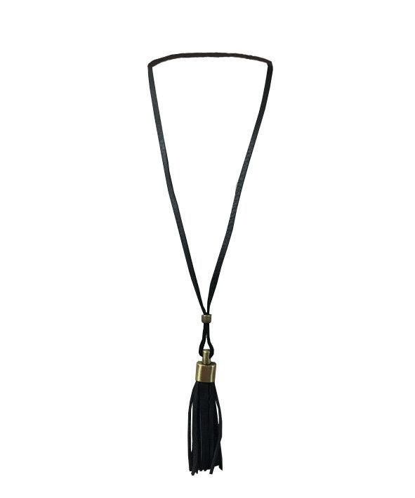 Necklace Fringe Black