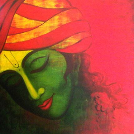 Arjun Kanhai's painting of Lord Krishna                                                                                                                                                                                 More