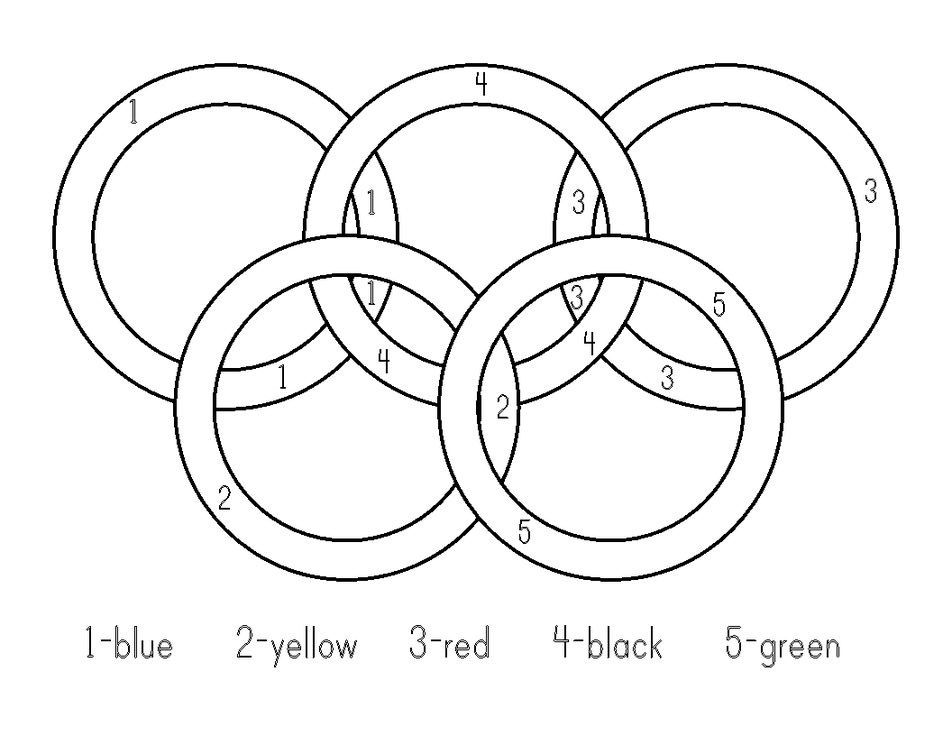 Olympic Rings Coloring Pages Olympic Ring Colors