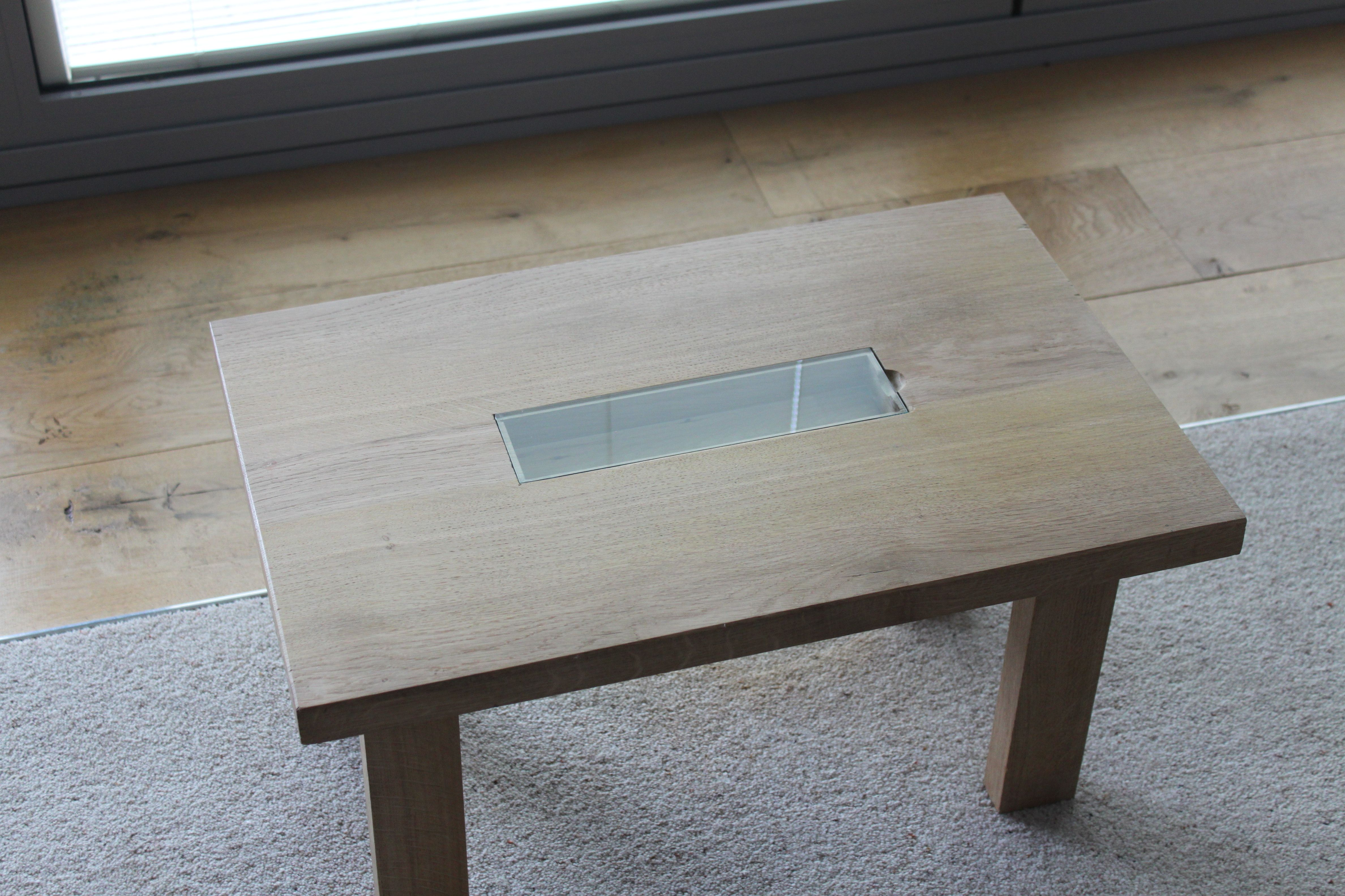 Cool Oak Coffee Table With Glass Inset And Sunken Enclosed Shelf Download Free Architecture Designs Scobabritishbridgeorg