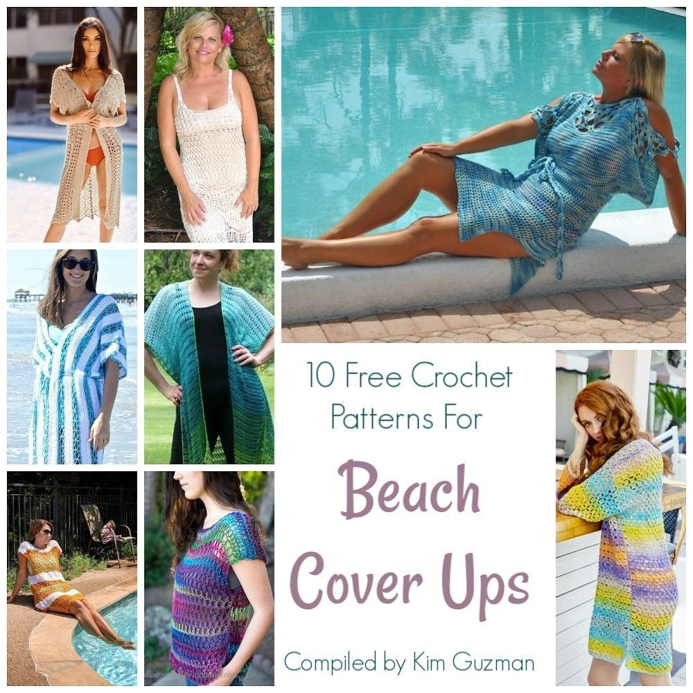 10 Free Crochet Patterns For Beach Cover Ups In 2020 Beach Cover Ups Free Crochet Pattern Free Crochet