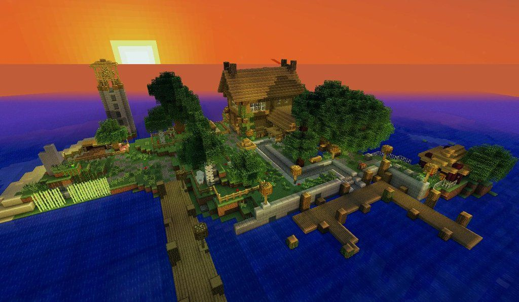 Island For One With Images Minecraft Houses Minecraft