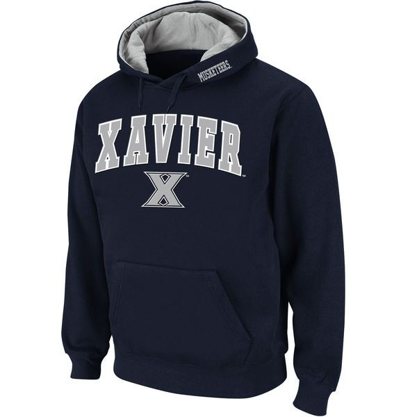 Xavier Musketeers Stadium Athletic Arch & Logo Pullover Hoodie - Navy - $34.99