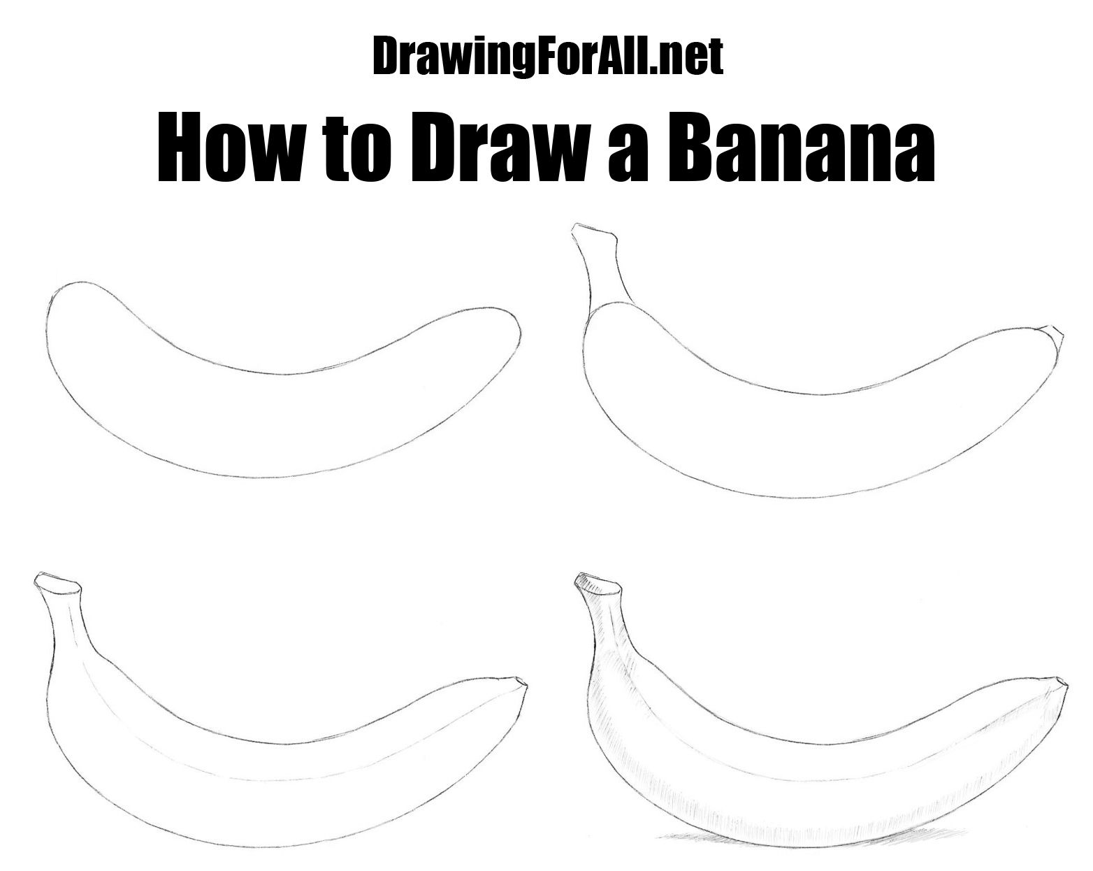 How To Draw A Banana Drawing Pinterest