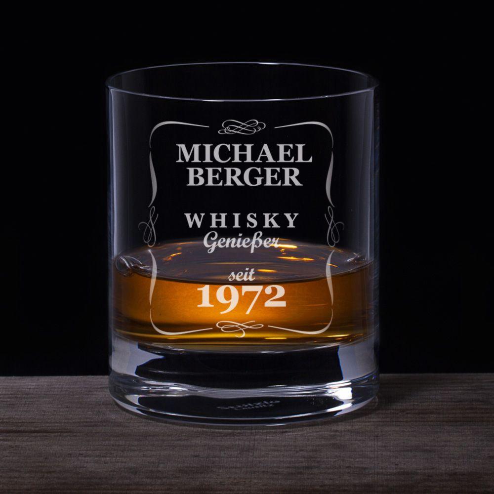 whiskyglas mit gravur klassisch personalisiert. Black Bedroom Furniture Sets. Home Design Ideas