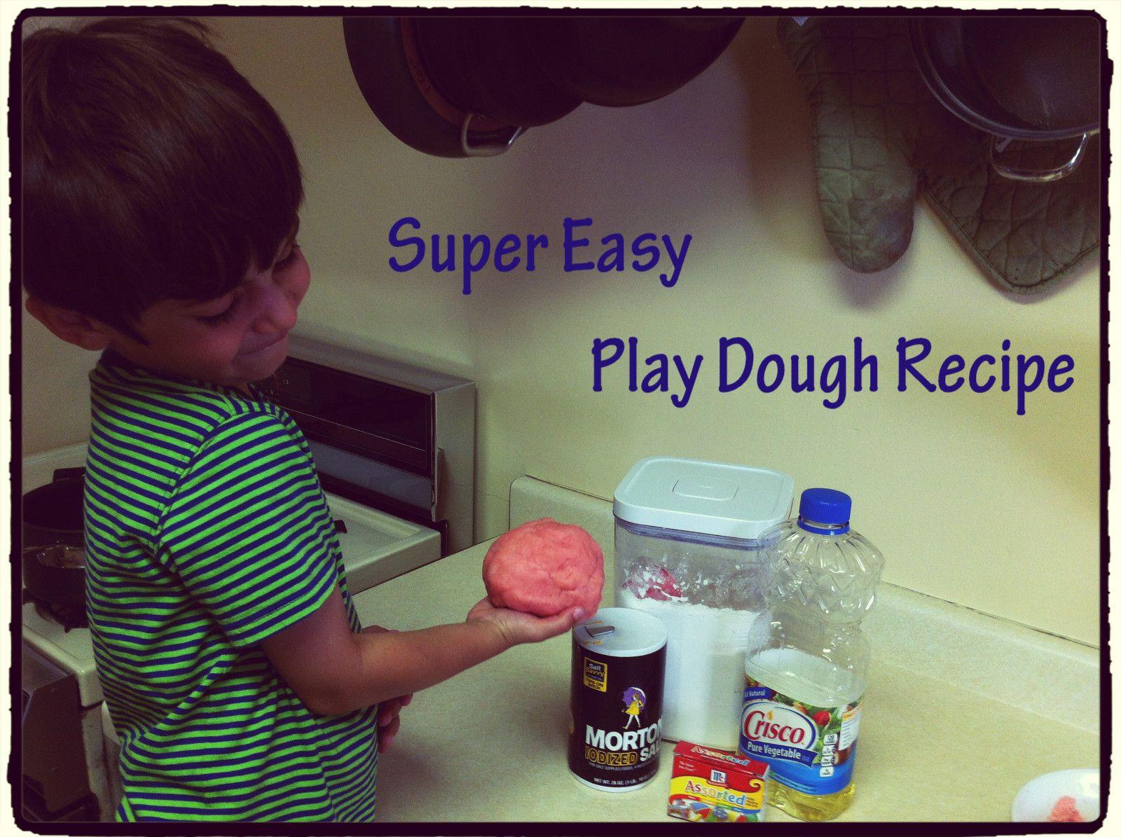 Super Easy Play Dough Recipe Flour, Salt, Oil & Water