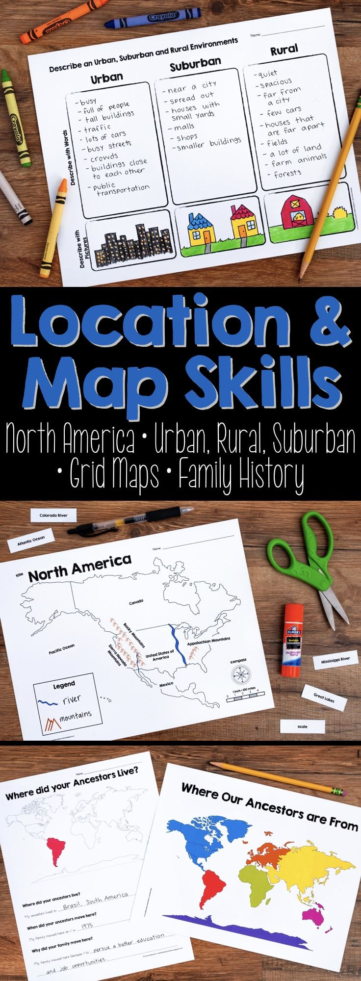 Photo of Map Skills & Location Social Studies Unit