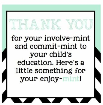 photograph about Thank You for Your Commit Mint Free Printable named Free of charge and Basic Dad or mum Thank Oneself 1st quality Clroom Appear