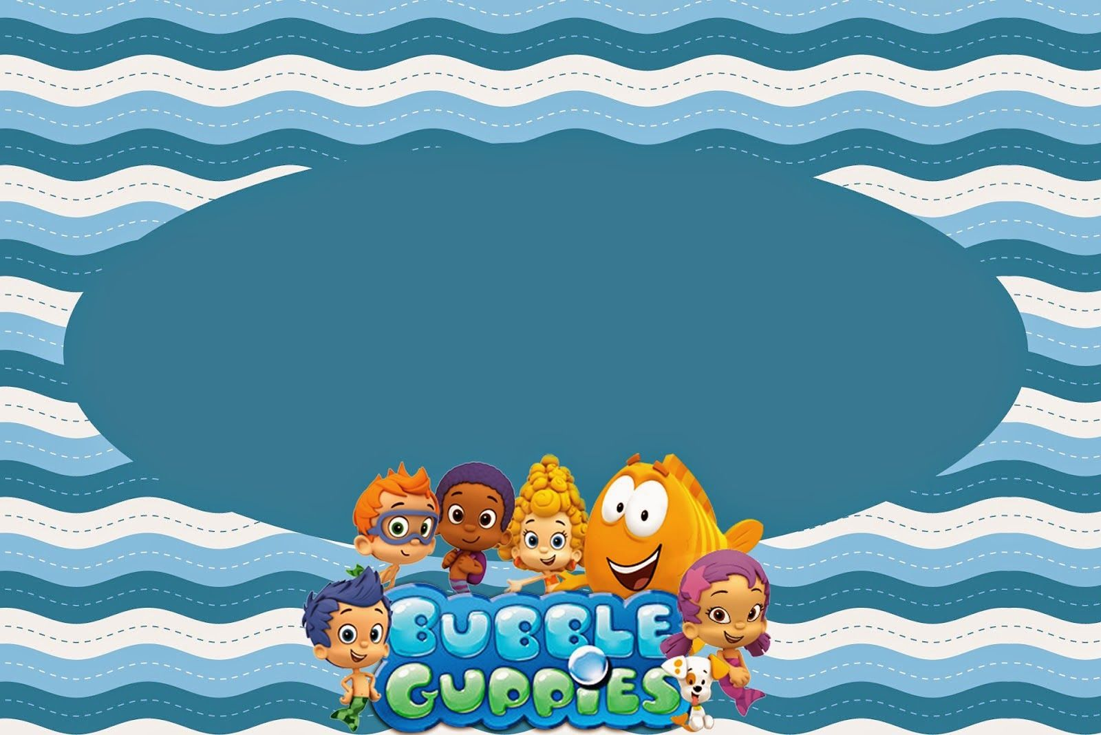 Bubble Guppies: Invitaciones para Imprimir Gratis. | HUC bday ...