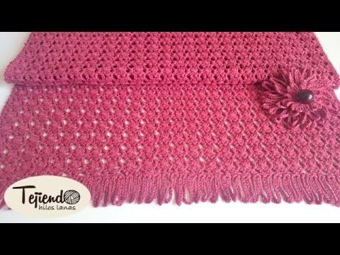 Chal Rectangular a Crochet / Tutorial en español | Crochet y Dos ...