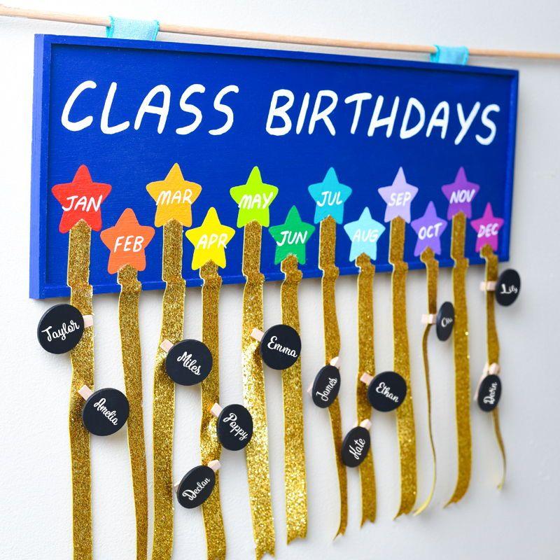 Classroom Birthday Tracker Crafts For Teachers Classroom