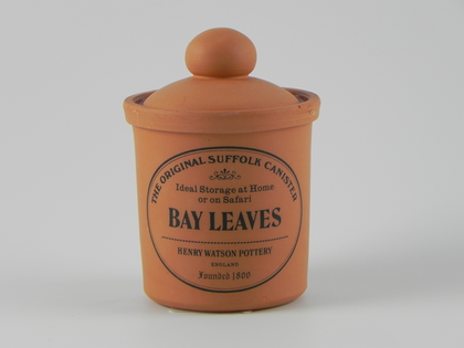 Herb Spice Jar In Terracotta Bay Leaves Henry Watson S