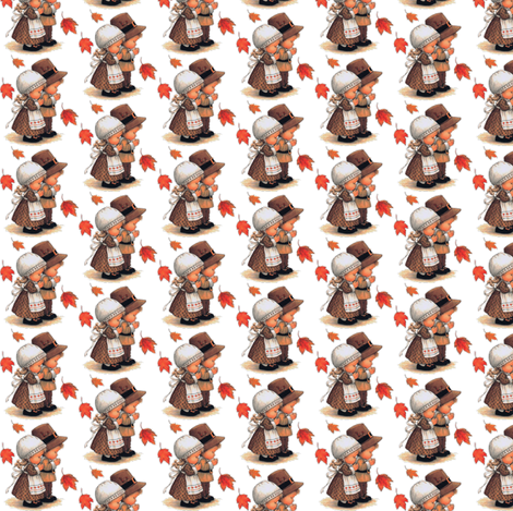 Baby Thanksgiving fabric by whimzwhirled on Spoonflower - custom fabric