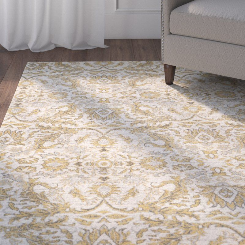 Sagebrush Ivory Gold Area Rug With Images Area Rugs Rugs