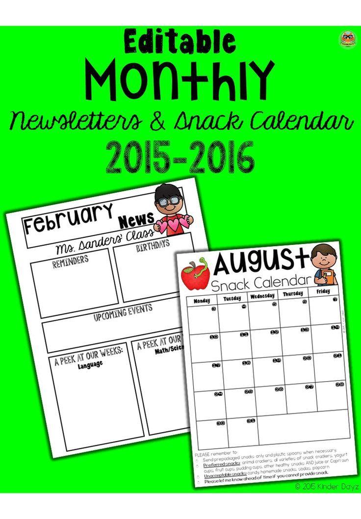 Kindergarten Calendar Powerpoint : Editable calendar bundle kindergarten and teacher