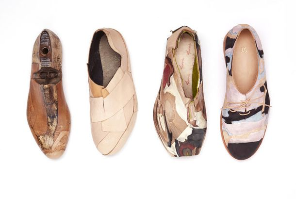 地層からヒントを得たパッチワークの靴 | roomie(ルーミー)