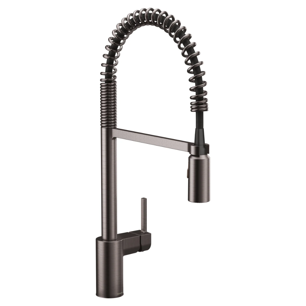 Moen 5923bls Black Stainless Steel Align 1 5 Gpm Single Hole Pull Down Kitchen Faucet With Spot Resist Finish And Duralast Stainless Steel Faucets Kitchen Faucet Single Handle Kitchen Faucet
