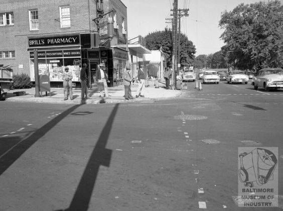 Old Photo Of Rogers Ave And Park Heights Baltimore Md 1956