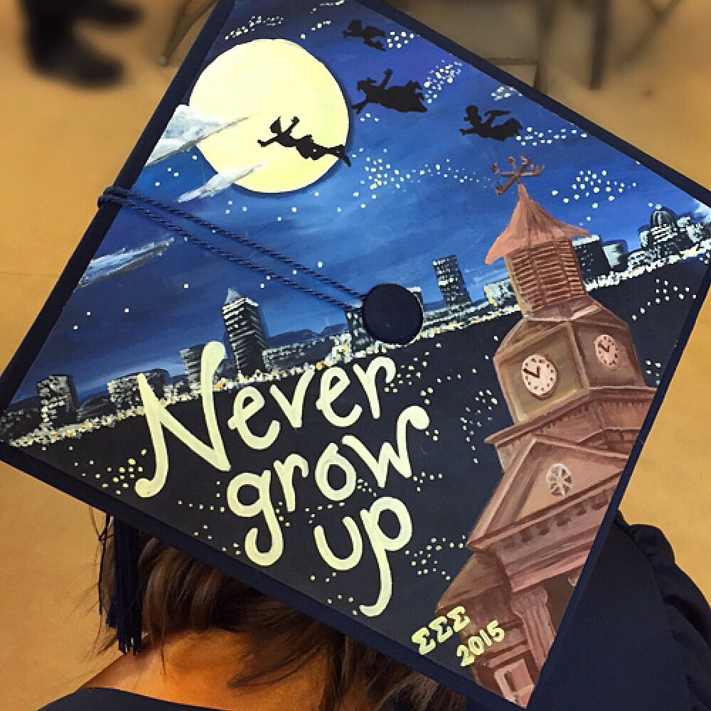 Graduation Cap Clever Girl: My Peter Pan Inspired Graduation Cap :)