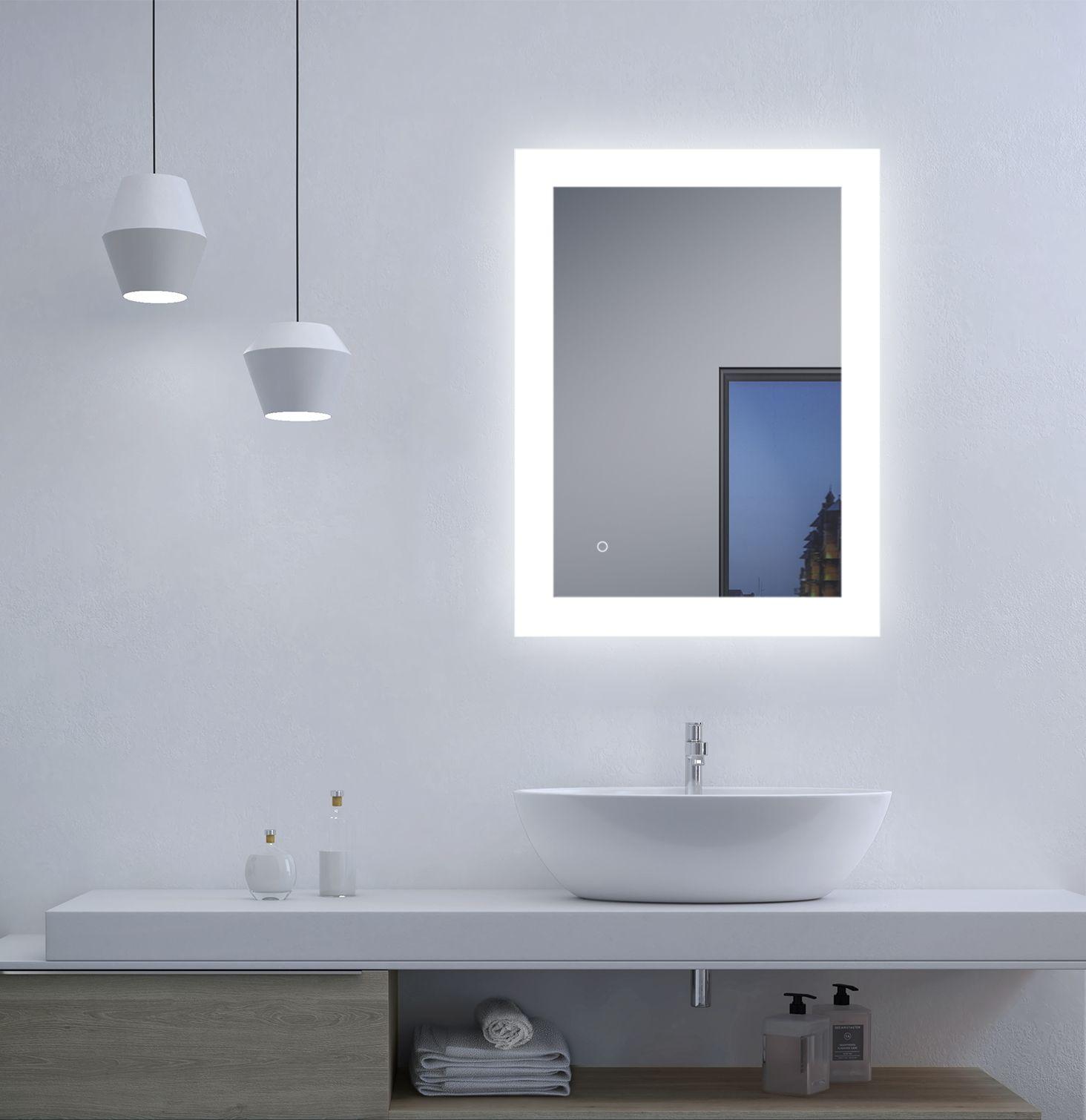 Talos Bright Badezimmerspiegel Spritzwassergeschutzt In 2020 Badezimmerspiegel Led Spiegel Led