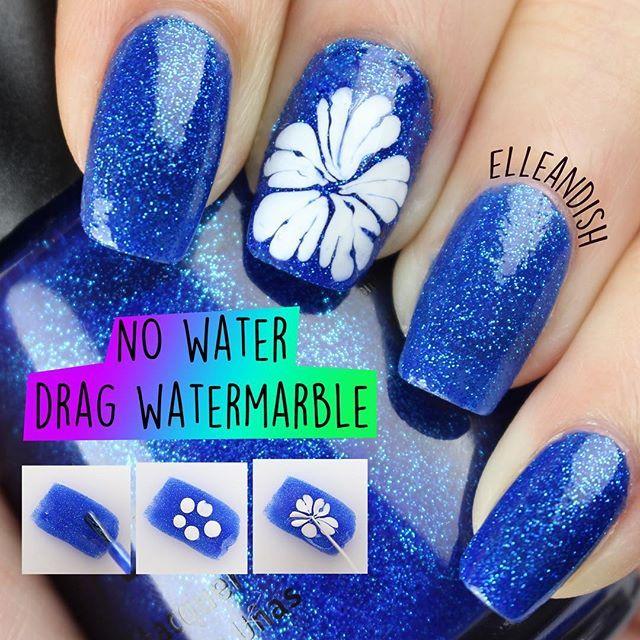Instagram media by elleandish - NEW VIDEO! No-water Drag Watermarble ...