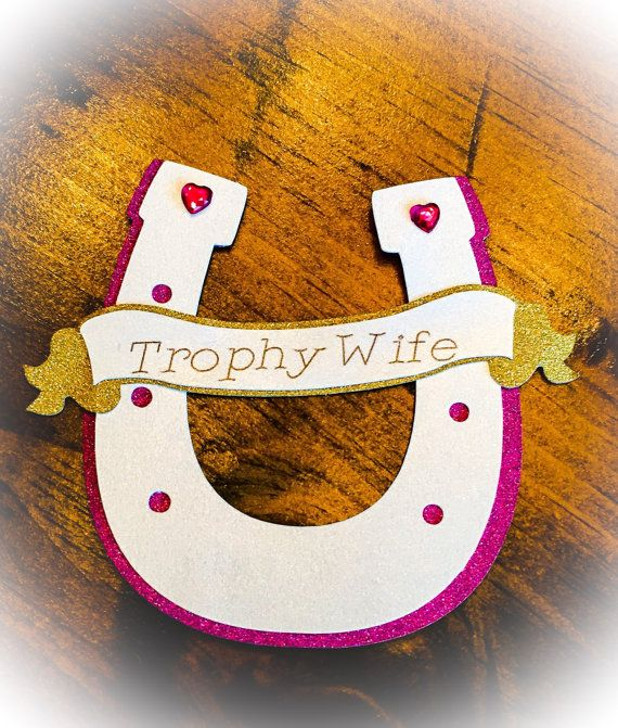 Bachelorette/Bridal/Birthday Name Pins/Badges with Custom Name or Phrase - Lady Luck - Kentucky Derby themed Horseshoe pins