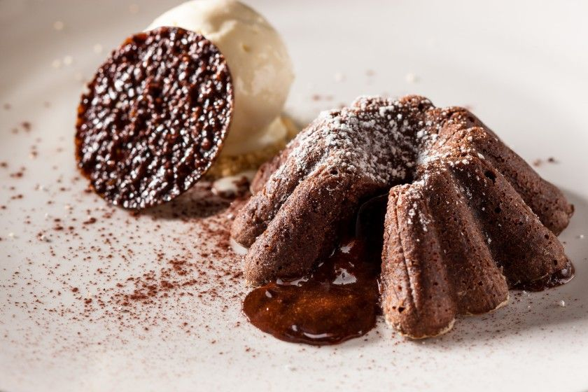 Its actually super easy to make these molten chocolate cakes