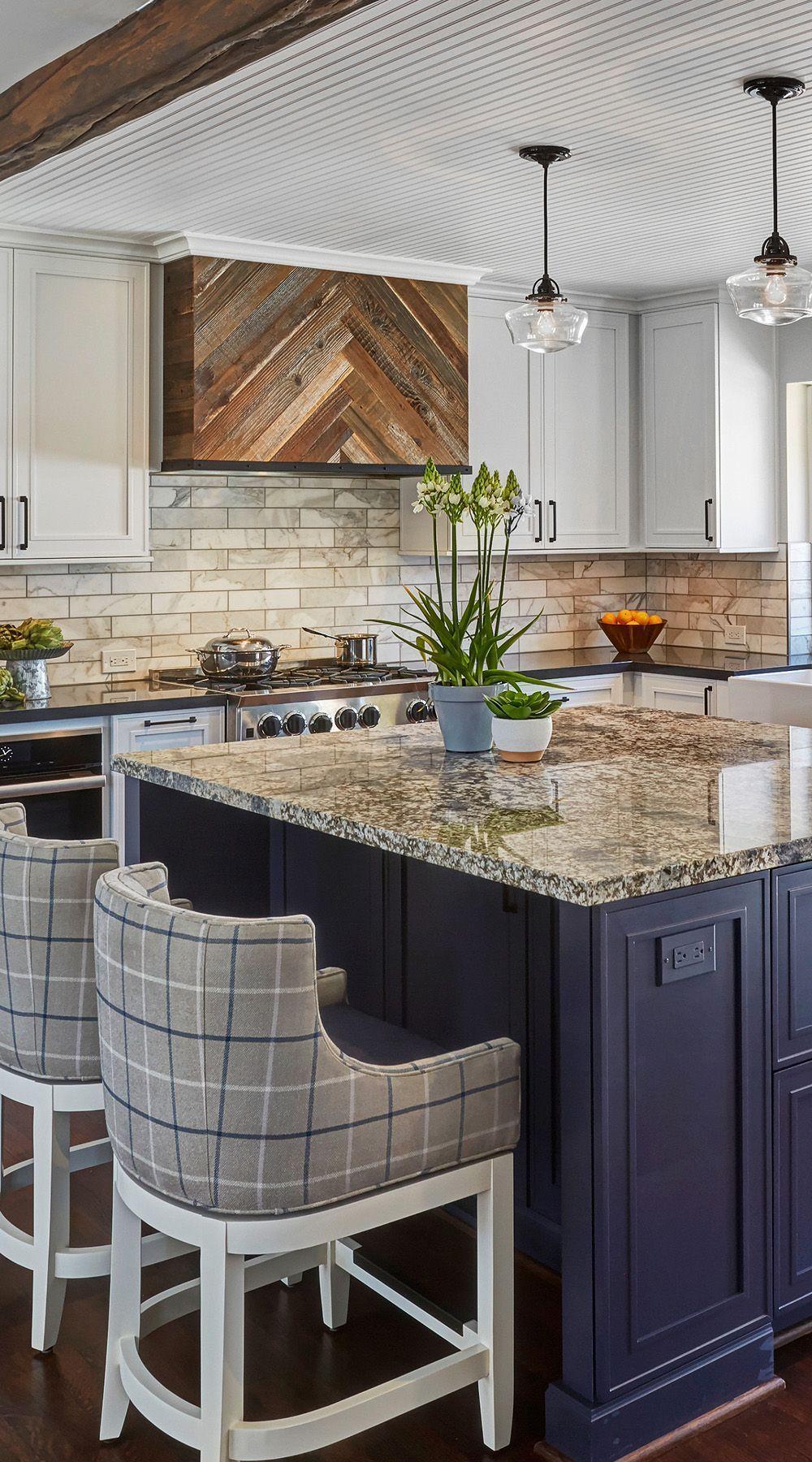 Farmhouse Kitchen Gray Brown Granite Countertop Brown Granite Countertop With B Brown In 2020 Granite Countertops Kitchen Brown Granite Brown Granite Countertops