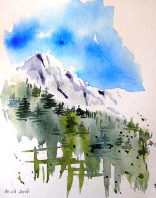 Happy Accident Croquis De Paysage Dessin Montagne Peindre