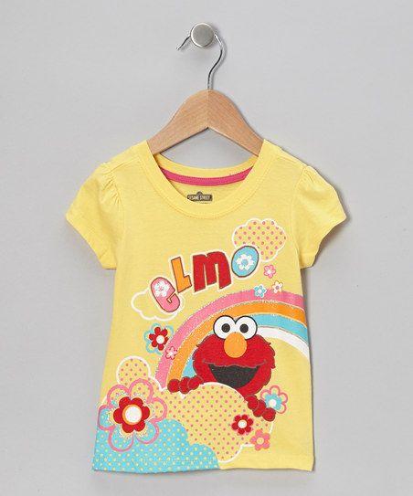 Yellow Rainbow Elmo Tee - Toddler