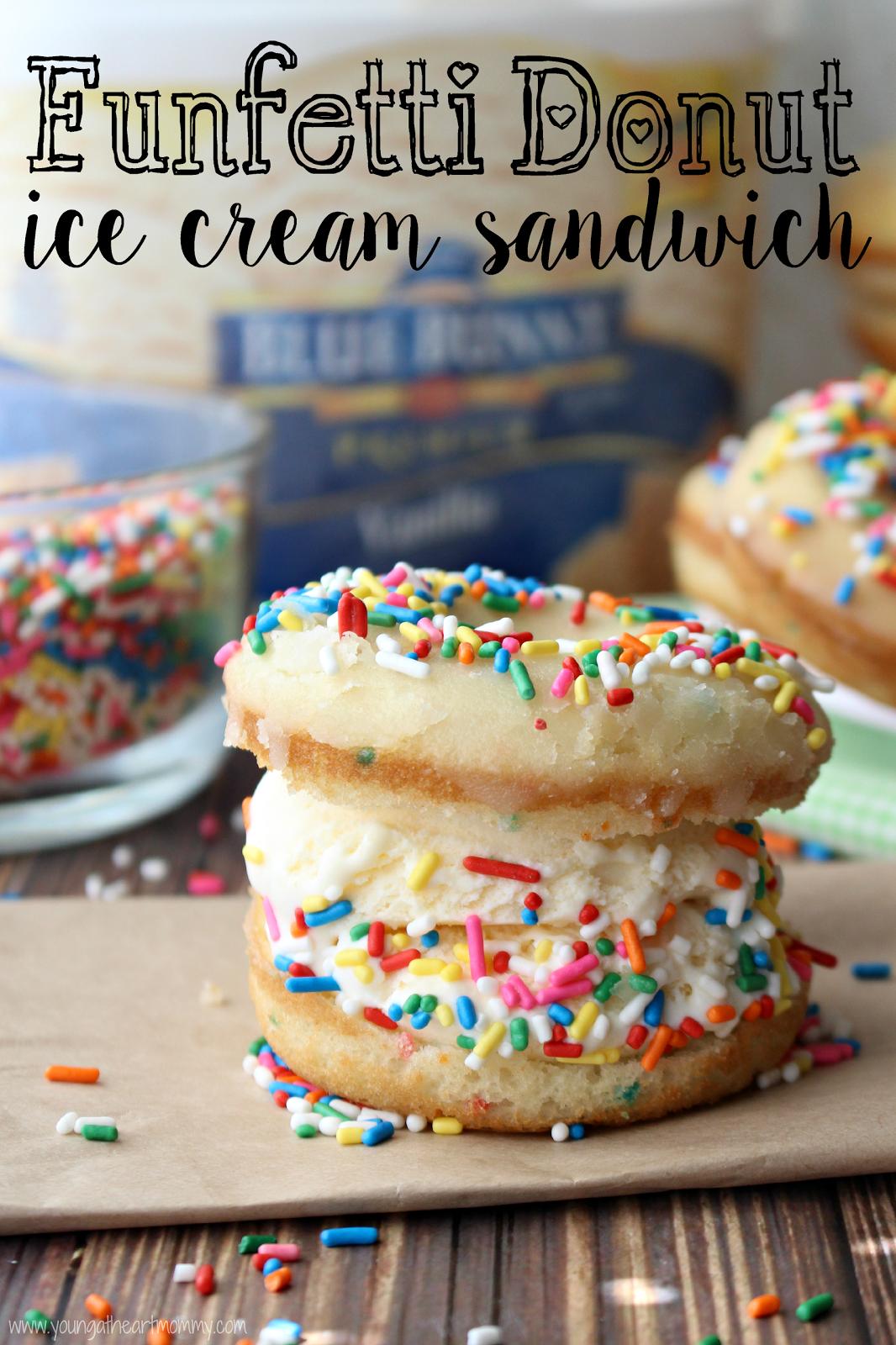 Funfetti donut ice cream sandwiches recipes pinterest donut funfetti donut ice cream sandwiches ccuart Gallery