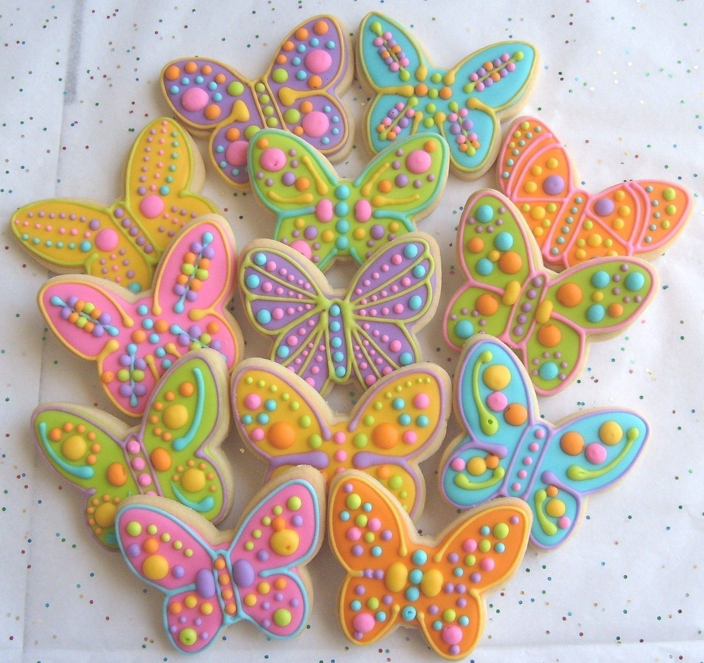 Galletas En Forma De Mariposas Repostería Glaseado Para